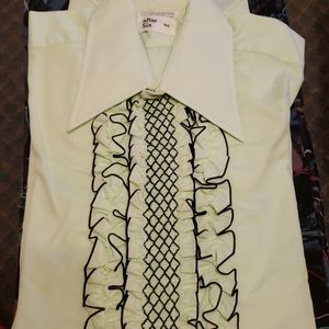 Vintage mens long-sleeved dress shirt